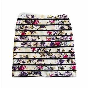 WHBM Floral Mini Skirt